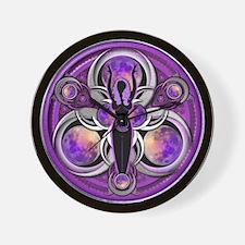 Goddess of the Purple Moon Wall Clock