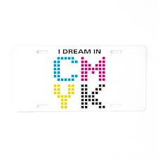 Dream In CMYK Aluminum License Plate