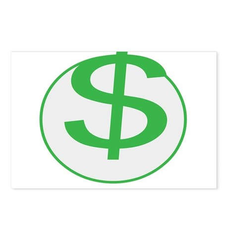 Dollar Sign, fun, Postcards (Package of 8)