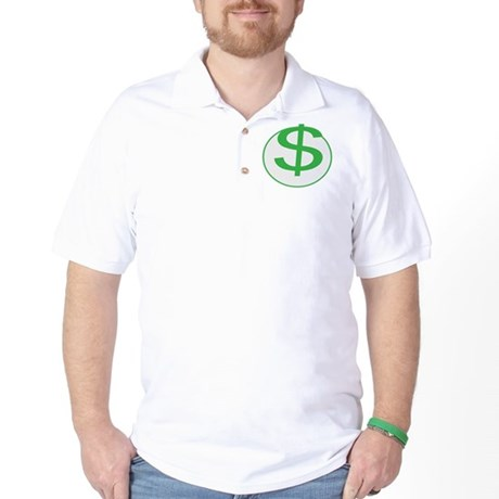 Dollar Sign, fun, Golf Shirt