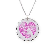 LOVE MY MOM - ASL Necklace Circle Charm