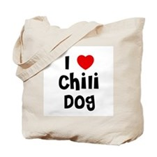 I * Chili Dog Tote Bag