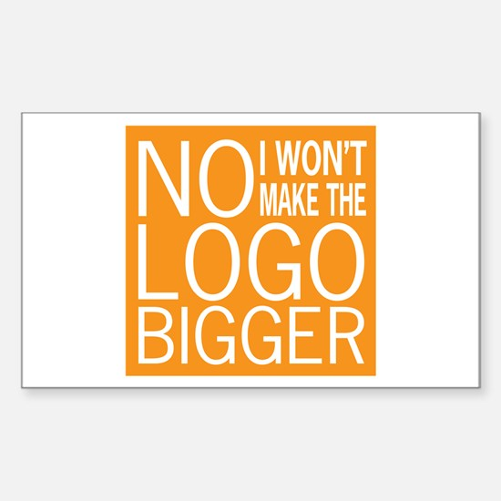 No Big Logos Sticker (Rectangle)