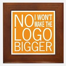 No Big Logos Framed Tile