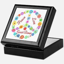 Peace Love Great Danes Keepsake Box