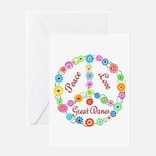 Peace Love Great Danes Greeting Card