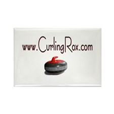 Cute Olympic curling Rectangle Magnet