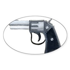 Six Shooter Oval Decal