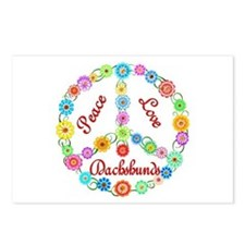Peace Love Dachshunds Postcards (Package of 8)