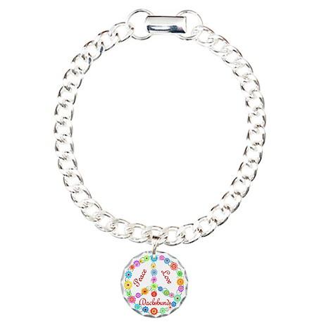 Peace Love Dachshunds Charm Bracelet, One Charm