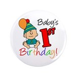 "Baby's 1st Birthday 3.5"" Button"