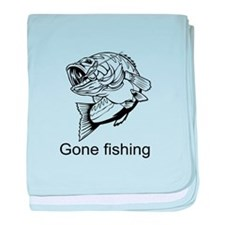 Gone fishing baby blanket