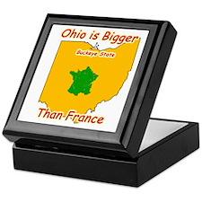 Ohio is Bigger than France Keepsake Box