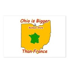 Ohio is Bigger than France Postcards (Package of 8