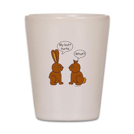 Funny Chocolate Bunnies Shot Glass