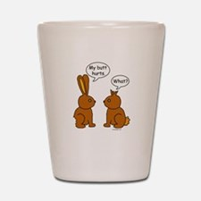 Funny Chocolate Bunnies Shot Glass