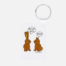 Funny Chocolate Bunnies Keychains