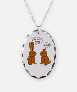Funny Chocolate Bunnies Necklace