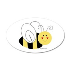 Cute Bee 22x14 Oval Wall Peel
