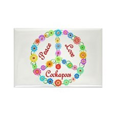 Peace Love Cockapoos Rectangle Magnet