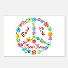 Peace Love Chow Chows Postcards (Package of 8)