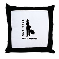 Have Bag, Will Travel Throw Pillow