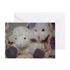 Bunny & Lamb Greeting Card