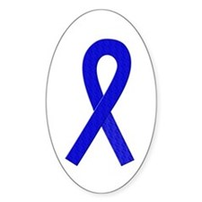 Blue Ribbon Oval Decal