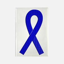 Blue Ribbon Rectangle Magnet