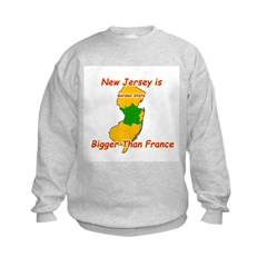 New Jersey is Bigger than France Sweatshirt