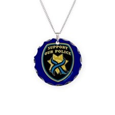 Thin Blue Line Support Police Necklace