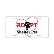 Adopt a Shelter Pet Aluminum License Plate