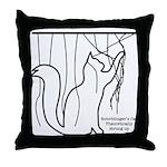 The Geeks Cat's Throw Pillow