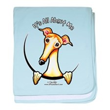 Fawn Greyhound IAAM baby blanket