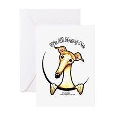 Fawn Greyhound IAAM Greeting Card
