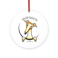 Fawn Greyhound IAAM Ornament (Round)
