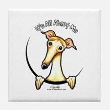 Fawn Greyhound IAAM Tile Coaster