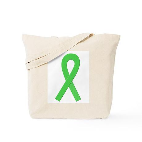 Lime Ribbon Tote Bag