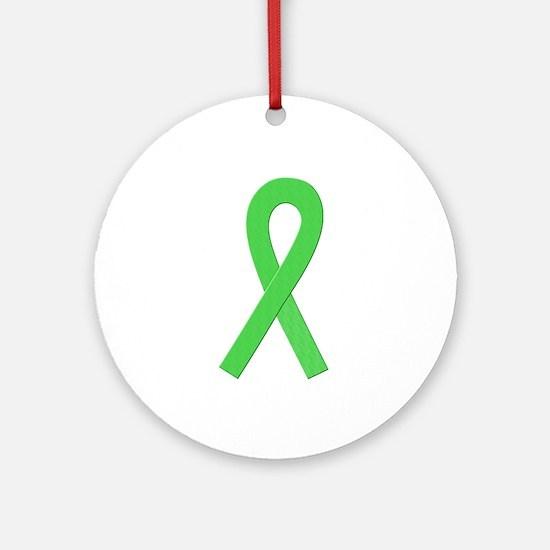 Lime Ribbon Ornament (Round)