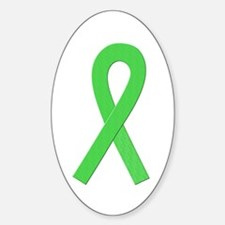 Lime Ribbon Oval Decal