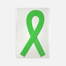 Lime Ribbon Rectangle Magnet