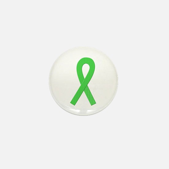 Lime Ribbon Mini Button (100 pack)