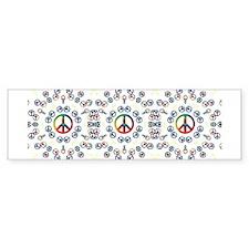 Peace Sign Bumper Bumper Bumper Sticker