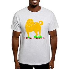 Golden Tripawd Love T-Shirt
