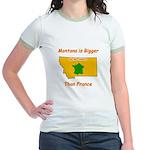Montana is Bigger than France Jr. Ringer T-Shirt