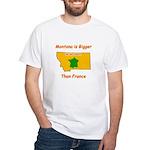 Montana is Bigger than France White T-Shirt