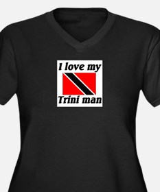 I love my Trini Man Plus Size V-Neck T-Shirt Plus