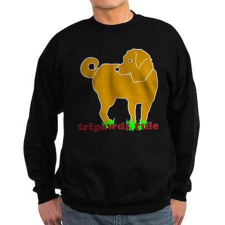Golden Tripawds Rule Sweatshirt (dark)