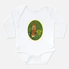 Easter Corgi Long Sleeve Infant Bodysuit