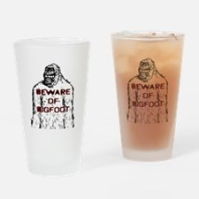 Beware Bigfoot Drinking Glass